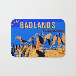 Visit Badlands Retro Postcard Bath Mat