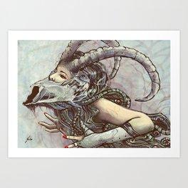 Zodiac Sign: Capricorn Art Print