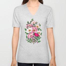 Wild roses II Unisex V-Neck