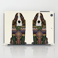 the hound iPad Cases featuring Basset Hound by Sharon Turner