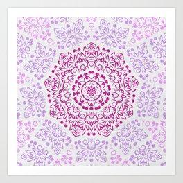 A Glittering Colorful Mandala 2 Art Print