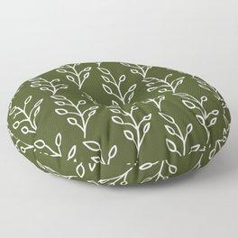 Feeling of lightness Pattern- Pine needle green Floor Pillow