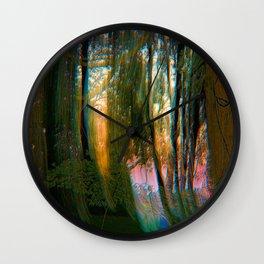 Trippy Trees Wall Clock
