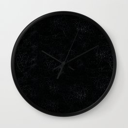 Black Crackling Leather-Look Wall Clock