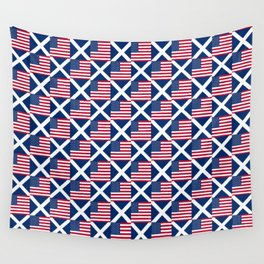 Mix of flag: usa and scotland Wall Tapestry