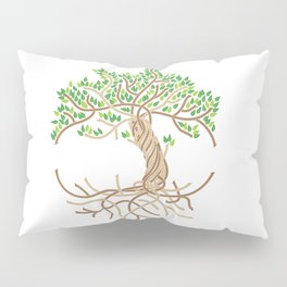 Rope Tree of Life. Rope Dojo 2017 white background Pillow Sham