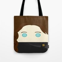 jennifer lawrence Tote Bags featuring Jennifer Lawrence by heartfeltdesigns by Telahmarie