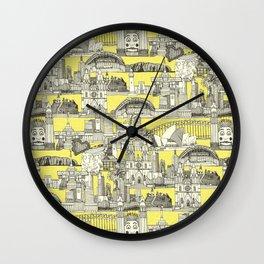 AUSTRALIA toile de jouy Wall Clock