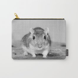 Gerbil , Black and white Carry-All Pouch