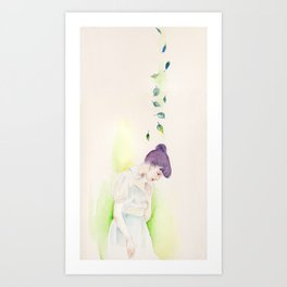 The Purple, the Green, and the Deep Blue Art Print