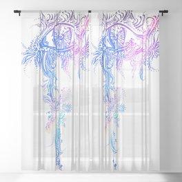 Cosmic Tribal Style Eye Sheer Curtain