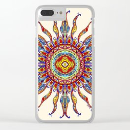 Sun Salutation Clear iPhone Case