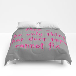 Men - the only thing duct tape cannot fix Comforters