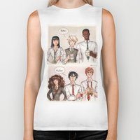 potter Biker Tanks featuring Potter - Malfoy by CaptBexx