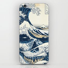 The Great Wave Off Skull Japanese Style iPhone Skin