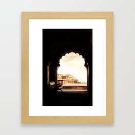 Sit with me Framed Art Print