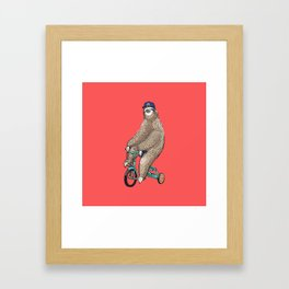 Haters Gonna Hate Sloth Framed Art Print