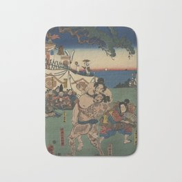 A game of Sumo Wrestling. Bath Mat