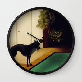 Summer Dark Wall Clock