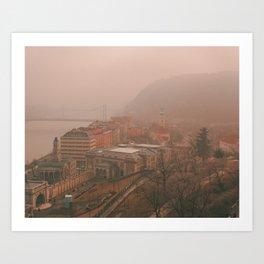 Budapest Fog Art Print