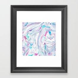Pinks Blues Marble Framed Art Print