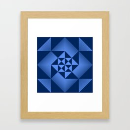 Abstract Triangles - Sapphire Framed Art Print