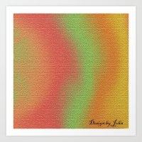 Rough colors Art Print