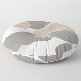 Earth toned colored bubbles Floor Pillow