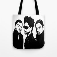 30 seconds to mars Tote Bags featuring 30 Seconds to Mars Vector by Emma Porter
