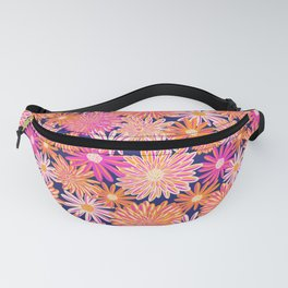 Daisy And Aster Flowers Fanny Pack
