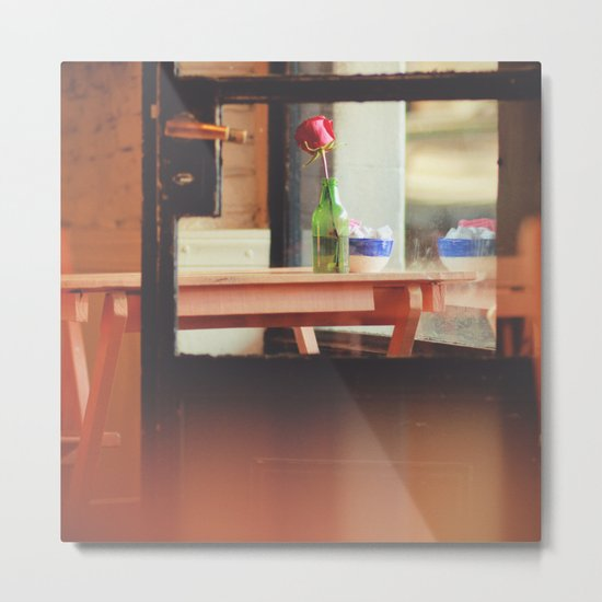 The table by the window Metal Print