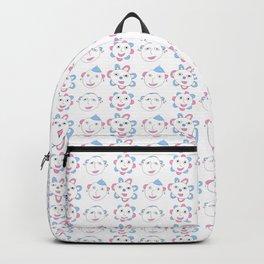 flower and face-flower,bloom,blossom,nature,funny,plants,nature,visage,face Backpack