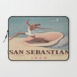 Vintage poster - San Sebastian Laptop Sleeve