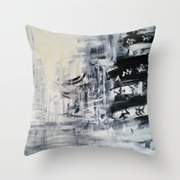 singapore Throw Pillows featuring Singapore II by Kasia Pawlak