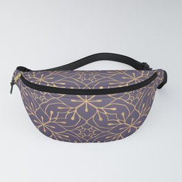 Luxury Ornamental Gold Color Fanny Pack