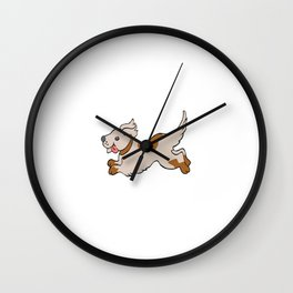 Everything is Gray I'm a Dog Funny Graphic T-shirt Wall Clock