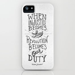 Revolution Becomes Our Duty iPhone Case