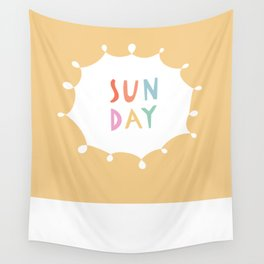 Sunday in Yellow Wall Tapestry