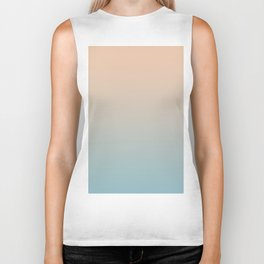 HALF MOON - Minimal Plain Soft Mood Color Blend Prints Biker Tank