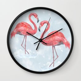 Flamingo # society6 #decor Wall Clock