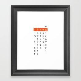 Linux - limitless, inspiring, natural, useful, extrovert - horizontal Framed Art Print