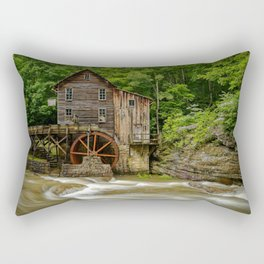 GLADE CREEK GRIST MILL SUMMER PHOTO - WEST VIRGINIA PICTURE - OLD MILL IMAGE - LANDSCAPE PHOTOGRAPHY Rectangular Pillow
