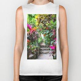 Dreamy Mexican Jungle Garden Biker Tank