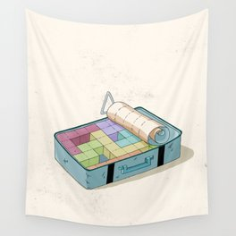 Preparing luggage Wall Tapestry