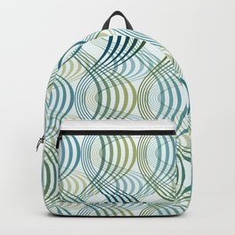 Green Hypno wave  Backpack