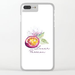Passion Fruit Design by #MahsaWatercolor Clear iPhone Case