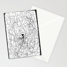 The lines of Love - White version. Stationery Cards