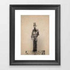 American Blueprint Framed Art Print