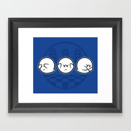 Boo No Evil Framed Art Print
