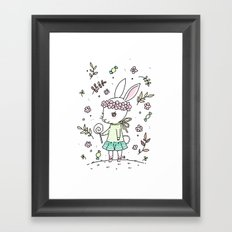 Summer Bunny Framed Art Print